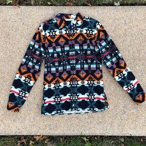🥳 Woolrich Aztec Buffon Down Long Sleeve Shirt